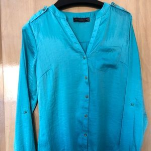 Limited Teal Button Down Shirt